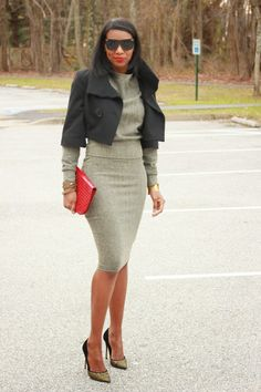 Beaute' J'adore: DIY top M6992, pencil skirt