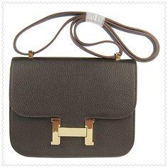HermesHermesHermes Constance Shoulder Bag Hepatic Gold