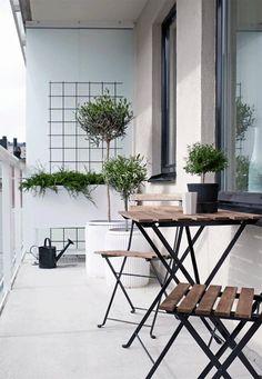 Balkon Extraordinary Ideas for Apartment Small Balcony Design Ideas – Balkon ideen Narrow Balcony, Modern Balcony, Small Balcony Design, Tiny Balcony, Small Balcony Decor, Small Patio, Small Balconies, Small Terrace, Small Balcony Furniture