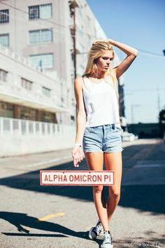 Alpha Omicron Pi Vintage Sign
