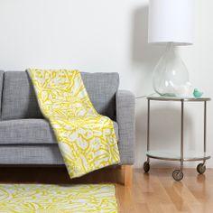 Lisa Argyropoulos Daisy Daisy In Golden Sunshine Fleece Throw Blanket | DENY Designs Home Accessories