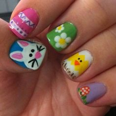 Easter manicure nail design