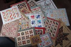 Miss Rosie's Miniature Quilts - Imagine a wall of these beauties...