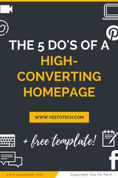 Having a homepage for your website that converts is unbelievable. Discover the 5 essential features every homepage should have + get a FREE Homepage Template! website design | website design inspiration | website design layout | website | website layout | Marina Lotaif of Yes To Tech | Build Your Own DIY Website & Maximize Your Online Presence | Bold & Pop | Social Media, PR, Branding & Website Design | Writefully Simple | Branding + Website Design & Wedding Stationery | Website Ideas + Tips