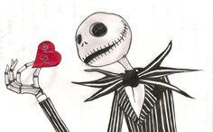 Skeleton Love Wallpaper | gótico | Ilustração Desenhos Design e afins