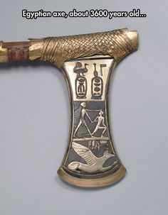 Ceremonial Axe of pharaoh Ahmose I. The Egyptian Museum, Cairo, Egypt