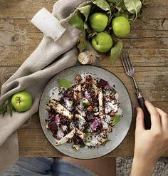 Apfel-Quinoa-Salat mit Kokosmilch-Pfefferminz-Dressing