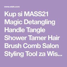 Kup si MASS21 Magic Detangling Handle Tangle Shower Tamer Hair Brush Comb Salon Styling Tool za Wish - Nakupování je zábava Salon Style, Styling Tools, Hair Brush, Tangled, Salons, Magic, Shower, Lounges, Rain Shower Heads