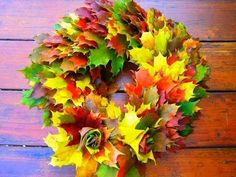 Handmade Rose Maple Leaf, Handmade Leaf, Handmade Rose Leaf, Process of Roses Made from Fallen Leaves Leaf Projects, Art Projects, Wreaths, Maple Leaves, Youtube, Plants, How To Make, Autumn, Diy
