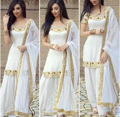 Simple Stylish Dresses For Women And Girls Pakistani Dress Design, Pakistani Outfits, Indian Outfits, Stylish Dresses, Fashion Dresses, Punjabi Dress, Indian Designer Suits, Indian Gowns Dresses, Sari