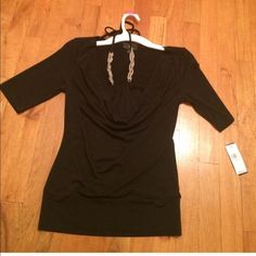 IZ Byer Top with Accent Necklace  IZ Byer Top with accent necklace. Size small, original tags attached.. The necklace is attached to the top by a string, makes a beautiful statement to the shirt. Paid $36, selling for $15 firm ❤️ Iz Byer Tops