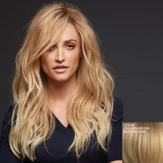 Attractive Long Side Bang Vogue Fluffy Wavy Lace Front 100 Percent Human Hair Wig For Women (ASH BLONDE 27/613#) in Human Hair Wigs   DressLily.com