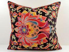 Vintage Hand Embroidered Uzbek Suzani Pillow MSP4_44