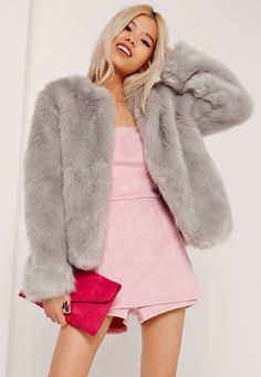 Slay, slay, slay in this faux fur collarless coat this weekend.