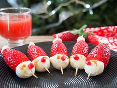 Strawberry Santas an