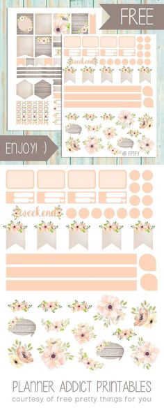 LOTS of free printables here Free Planner Printables: Anemone Blush - Free Pretty Things For You {newsletter subscription required} Planner Free, To Do Planner, Happy Planner, 2015 Planner, Blog Planner, Year Planner, Planner Diy, Bullet Journal Décoration, Planer Organisation