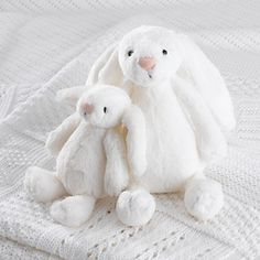 One of our best selling toys from the Jellycat range, bashful bunny is known for its super soft fur and incredibly long ears. This fluffy white model is exclusive to The White Company and a great place to start your cuddly polyester fill