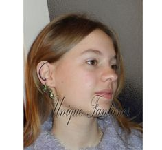 Bohemian wire wrapped earring  multisize using by UniqueFantasies