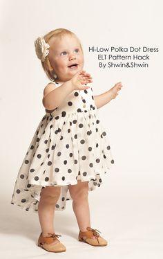 Shwin&Shwin: Hi-Low Polka Dot Dress Tutorial || Summer Collection