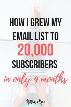 How To Grow Your Email List By Offering Opt In Freebies - Lead Magnets - Grow Your Email List With Convertkit Marketing Website, Email Marketing Design, Email Marketing Campaign, Email Marketing Strategy, Email Design, Content Marketing, Affiliate Marketing, Online Marketing, Media Marketing