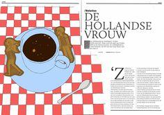 Dutch Women - Editorial illustration by Mietta Várszegi