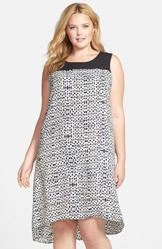 NIC+ZOE+'Ink+Dots'+Sleeveless+Shift+Dress+(Plus+Size)+available+at+#Nordstrom