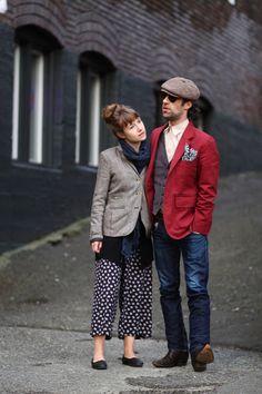 Annie Aldrich Elias Cotez Fremont seattle street style fashion printed pants