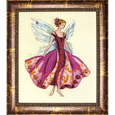 Grille de Broderie : January's Garnet Fairy Mirabilia MD108  (Univers Broderie)