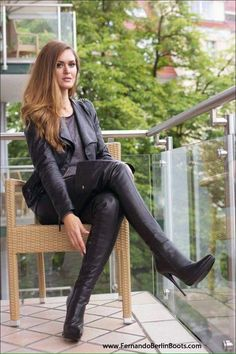Leather jacket and Fernando Berlin thigh boots