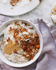 Roasted Cauliflower and Coconut Porridge Pots, plant based + vegan recipe // Alexandra Tallulah, inmybowl.com