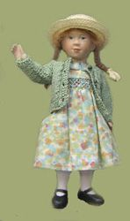 How sweet for a dollhouse!  Smocked dress.