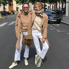 India, My Baby Girl (yes, she will always be my baby) and I had a lunch date today. We both had a good laugh when we saw each other's dress for the day. I guess camel coats, white jeans and Golden Goose tennis shoes are fine for any age. Classic Is the Way of the Day. @indiasinsights