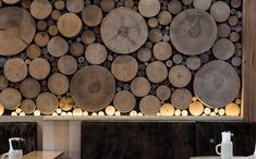 """""""This large feature wall inside the Munich Brauhaus in Melbourne, Australia…"""