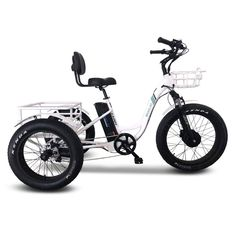 Emojo Caddy Electric Tricycle | Electric Bike | Emojo Bikes – Electric Boarding Company Best Electric Bikes, Electric Tricycle, Electric Scooter, Electric Motor, Adult Tricycle, Thing 1, Third Wheel, Bike Brands, Rear Brakes