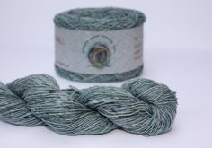 Spinning Yarns Weaving Tales - Tirchonaill 519 Duck Egg Green 100% Merino Laceweight for Knitting, Crochet, Warp & Weft via Etsy