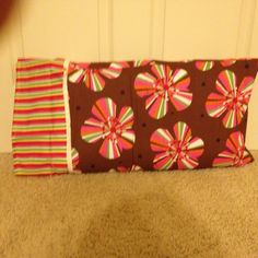 Sewed pillow case (made with 3 different fabrics)