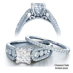 One of our stunning bestselling bridal sets is now available on closeout sale. The diamond bridal set which consist of Diamond Engagement Ring and Diamond wedding Band