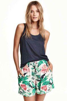 Pantalón corto estampado | H&M