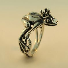 Enchanted Frog Prince Ring (by martymagic on Etsy)