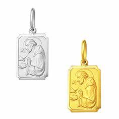 Medalha em Ouro de São Francisco - Retangular