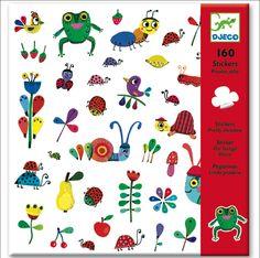 Cute 160 #stickers Pretty Meadow by #Djeco from www.kidsdinge.com https://www.facebook.com/pages/kidsdingecom-Origineel-speelgoed-hebbedingen-voor-hippe-kids/160122710686387?sk=wall #kidsdinge