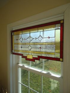 Tiffany Styled Stained Glass Window Panel