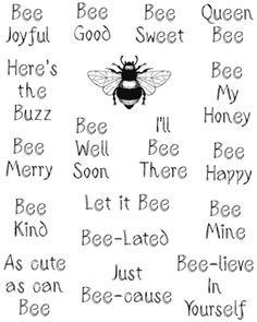 Design Junkies: Challenge Bee Well Soon Buzz Bee, I Love Bees, Bee Cards, Card Sentiments, Bee Theme, Thing 1, Bee Happy, Art Graphique, Bees Knees