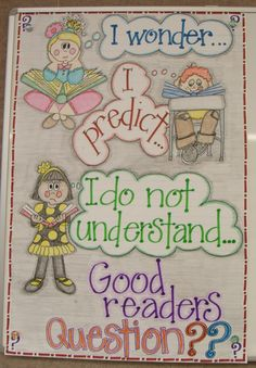 2nd Grade Smarty-Arties taught by the Groovy Grandma!: anchor charts -{For Reading Buddies- questions to ask each other}
