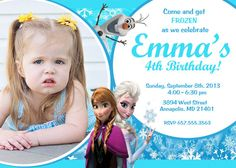 Disney Frozen Movie Birthday Party Invitation by PrettyPaperPixels, $8.99