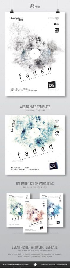Minimal party flyer & web banner artwork template