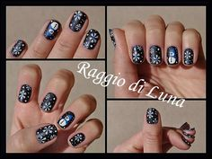 Snowflakes & snowman on midnight blue