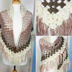 Ombre shawl using Caron Cakes by Yarnspirations