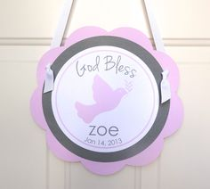 Baptism / Christening Decorations  Baby Girl by PartyandMore, $12.00