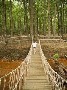 Building a swinging bridge